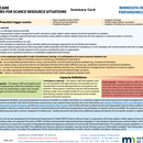 MN Dept. Health: Patient Care Strategies for Scarce Resource Situations