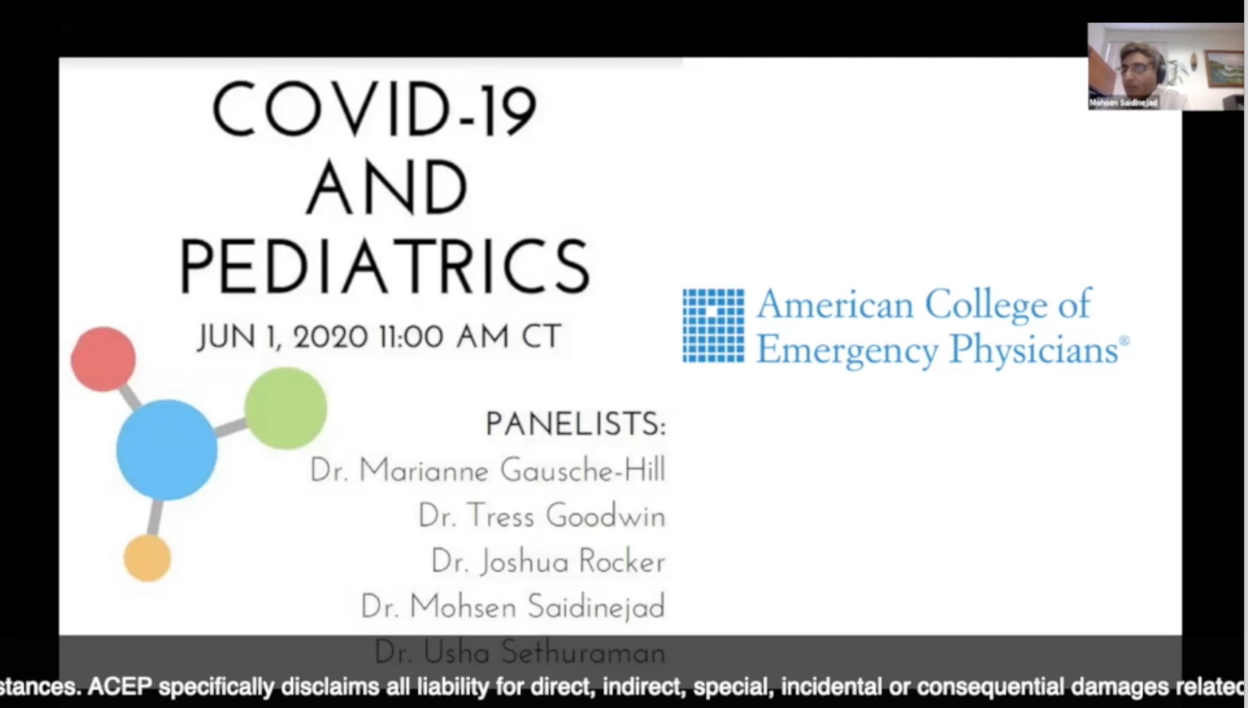ACEP COVID-19 and Pediatrics Webinar