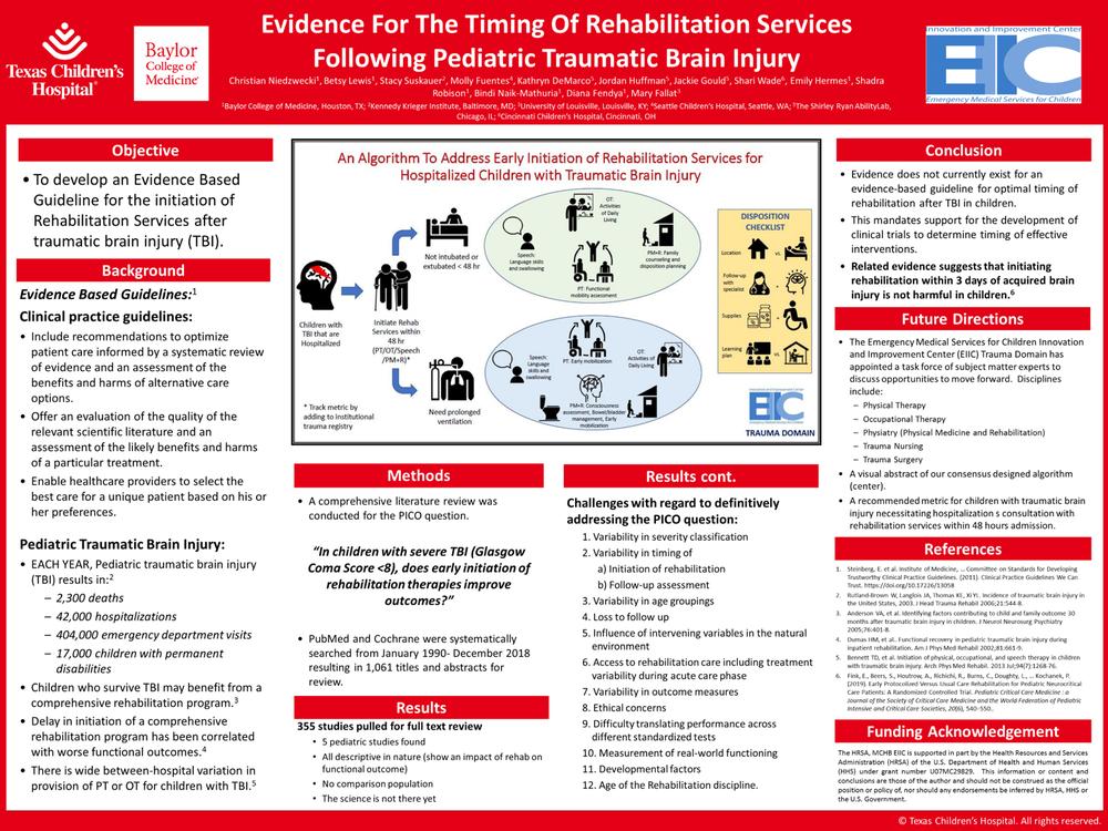 TCH Rehab Timing TBI